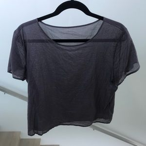 American Apparel Sheer T Shirt Grey